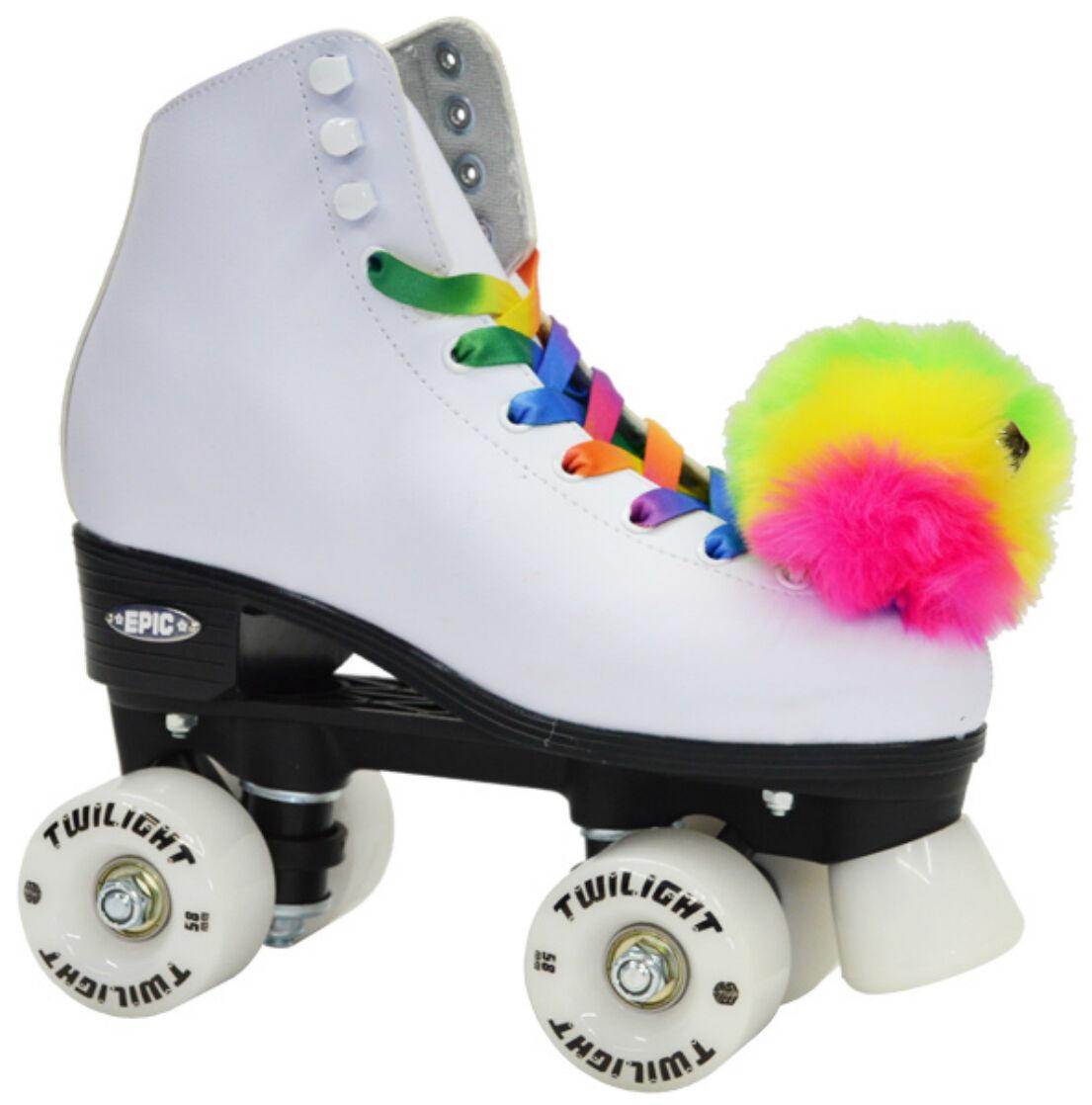 epic allure quad roller skates w rainbow