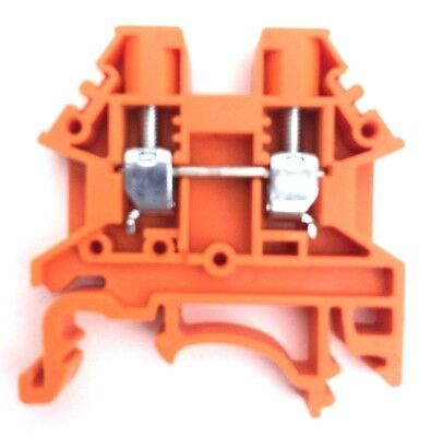 Din Rail Terminal Blocks 10 Quantity Dk4n-or Orange Dinkle 10 Awg Gauge 30a 600v