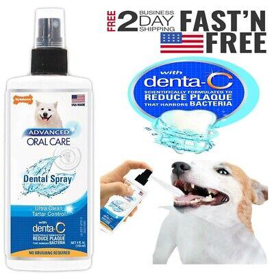 Advanced Oral Care Dental Spray for Dogs Reduces Plaque & Tartar | Fresh Breath  Breath Fresh Spray