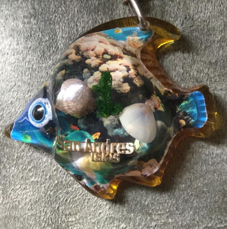 Souvenir Tropical Fish Keychain ~ Enamel ~ Orgullo Colombia ~ San Andres Islas