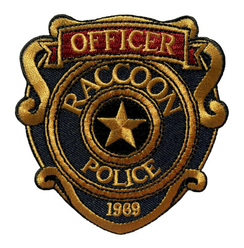 Resident Evil Raccoon Police Officer Patch (3.5 inch-Hook Fastener-R5)