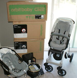 orbit baby g2 travel collection system infant car seat frame stroller black used ebay. Black Bedroom Furniture Sets. Home Design Ideas