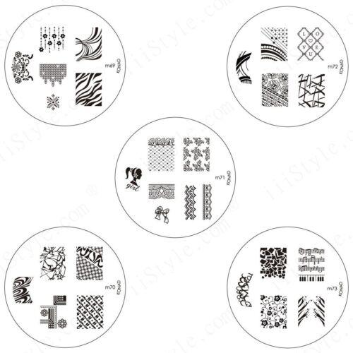 Konad Stamping Nail Art Circle Image Plate M69 M70 M71 M72 M73 DIY