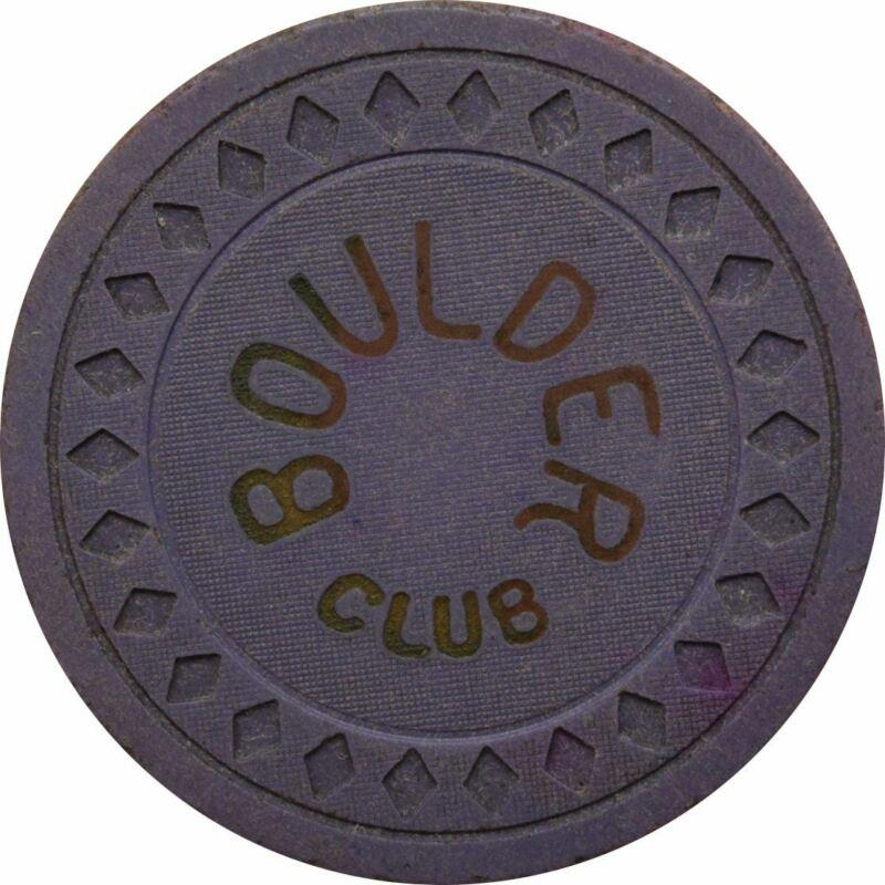 Boulder Club Las Vegas NV 25 Cent Chip 1930s