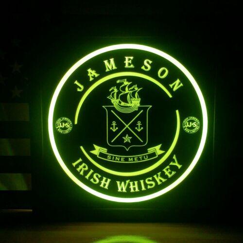 Jameson Irish Whiskey LED Sign Personalized, Home bar pub Sign, Lighted Sig