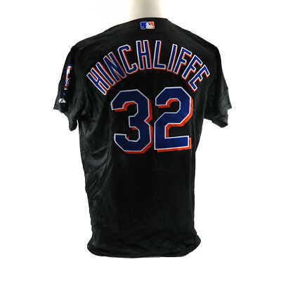 88479259b6d New York Mets Brett Hinchliffe  32 Game Issued Possibly Game Used Black  Jersey