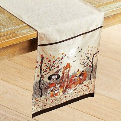 Pier 1 Imports Table Runner Halloween Dogs Puppies In Costume Trick Or Treat 72