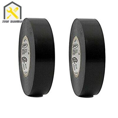 Pack Of 2 Black Pvc Electrical Tape .71 Inch. X 50ft - Free Ship