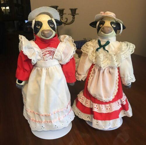 Vintage Milkmaid Cow Dolls