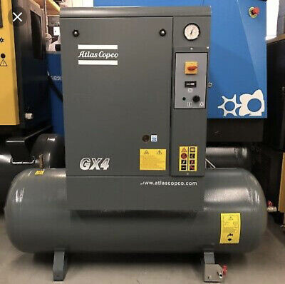 Gx4 Atlas Copco 5 Hp Single Phase Rotary Screw Air Compressor