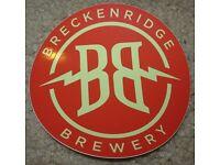 BRECKENRIDGE BREWERY Vanilla Porter LOGO IRON ON PATCH decal craft beer brewing