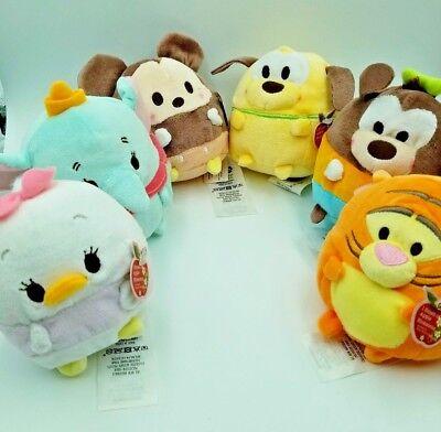 Lot of 6 Authentic Disney Ufufy Small Pluto/Daisy/Mickey/Goofy/Dumbo/Tigger NWT