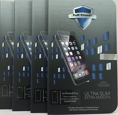 Lots of 4 Best New Premium Tempered Glass Screen Protector iPhone 6 Plus