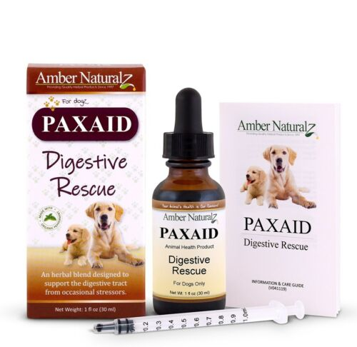 Amber Naturalz Paxaid (Formerly Paxxin) Digestive Rescue 4 Dogs 1oz w/ 2Day Air