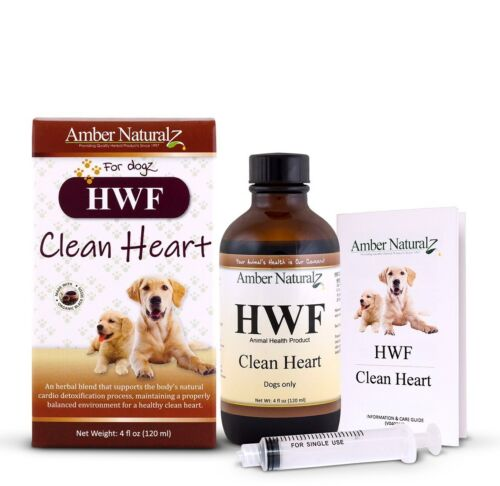 Amber Naturalz HWF - Organic Cardiovascular Detox for Dogs 4 oz FREE 2nd Day Air