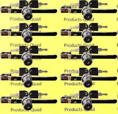 Sliding Glass Display Locks - Keyed Alike - Total Of 10 Locks - Display Case