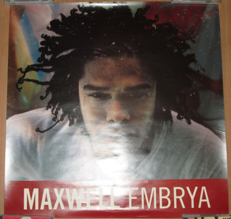 """MAXWELL - """"Embrya"""" promotional poster, 1998, 24x24, EX"""