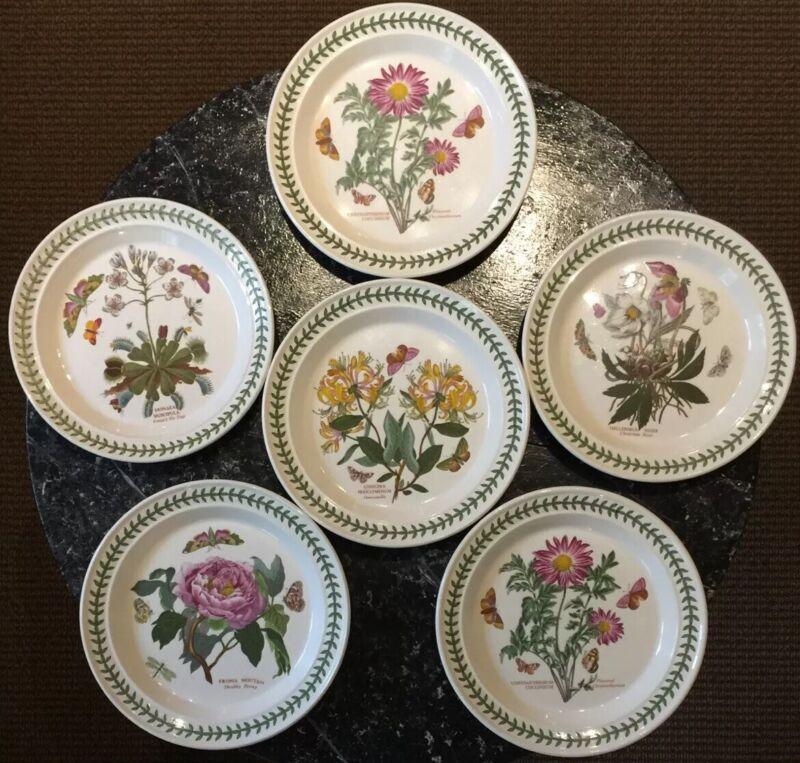 Portmeirion Botanic Garden Made in Britain Dinner Plate Set of 6 Lot Butterflies