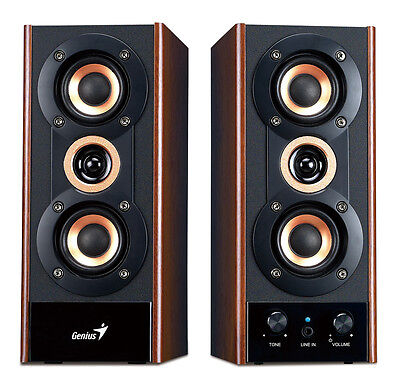 4 Lot Bulks Wholesale of Genius SP-HF800A  Computer Wooden Speaker