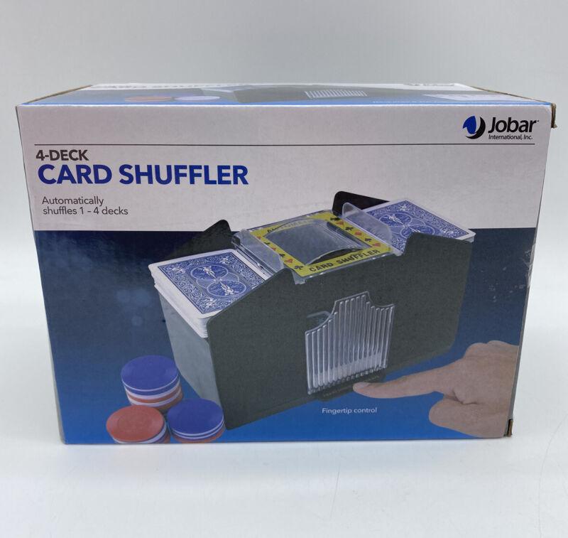Jobar  4-Deck Automatic Card Shuffler NEW in Box