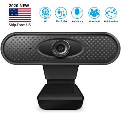 HD 1080P Webcam with Microphone USB Computer Camera PC Laptop Desktop Web Camera