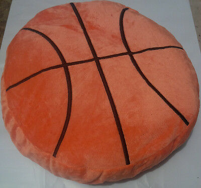 Basketball Pillow (16 INCH PLUSH BASKETBALL PILLOW ORANGE BALL couch throw nba )