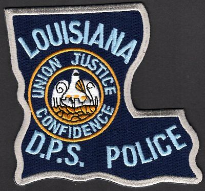 Louisiana D.P.S. Police Shoulder Patch Department of Public Safety State Shaped