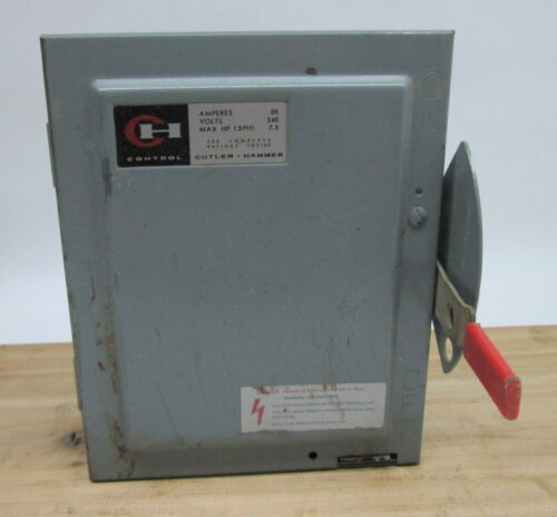 Cutler Hammer Disconnect Switch # 4143H301H 30A 250V 3Ph Fusible (100733)