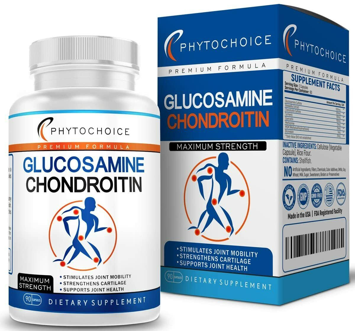 Glucosamine Chondroitin Turmeric Boswellia Joint Support Pai