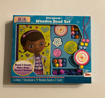 Doc Mcstuffins Set (Disney Doc McStuffins Storybook & Wooden Bead Set Activity Bracelet &)