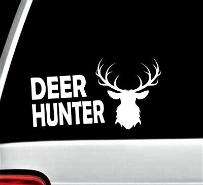 Deer Hunter Decal Sticker for Car Window BG 206 Moose Elk Hunting Antlers Rack (Deer Antlers For Cars)