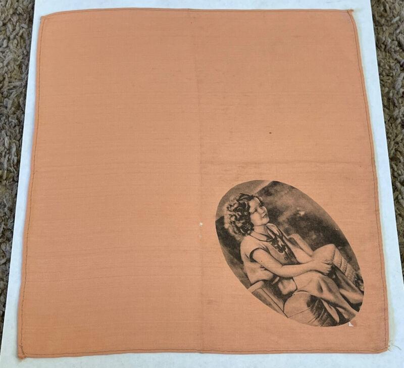 "Vintage 1930's SHIRLEY TEMPLE Handkerchief, 8x9"""