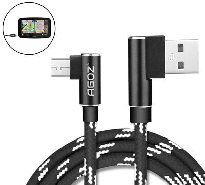 L Shape 4ft, 6ft,10ft Micro USB FAST Charger Cable for TomTom Car GPS Navigation