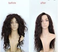Wig help!  washing plucking and straightening old wigs !