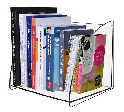 Clear Acrylic Counter or Desk Book Shelf