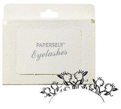 Flower Costume Makeup (Paperself Peach Blossom Black Paper False Eyelashes Unique Costume Lashes)