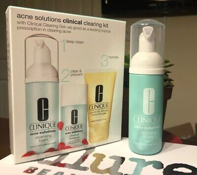 New Clinique Acne Solutions Cleansing Foam 1.7 oz - Just The Cleanser