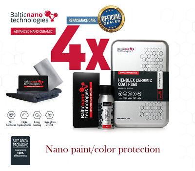 4X Hendlex Ceramic Coat Fs60 Nano 9H For Car Body Paint Color Protection