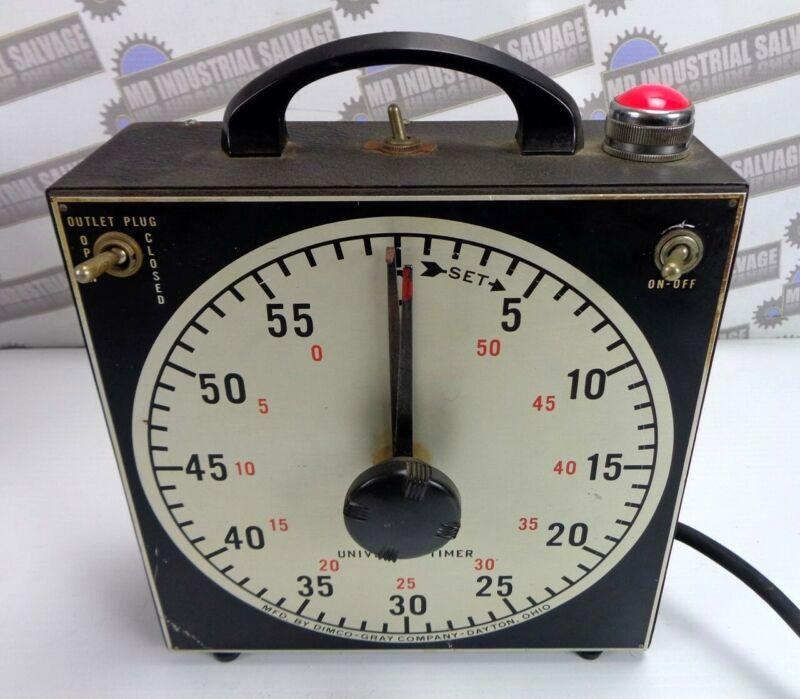 """Vintage GRALAB 60-MIN DARKROOM Timer with RARE """"RED"""" LIGHT & BUZZER Mod# 171"""