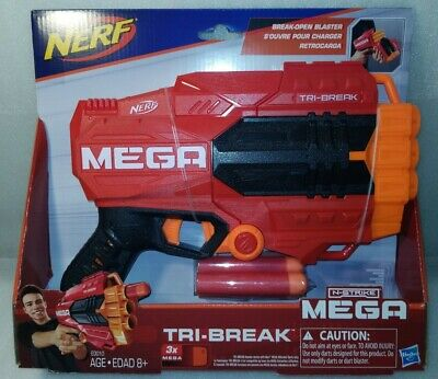 New Nerf Gun for Boys N Strike Mega Blaster Foam Dart Guns Toy Tri Break Kids