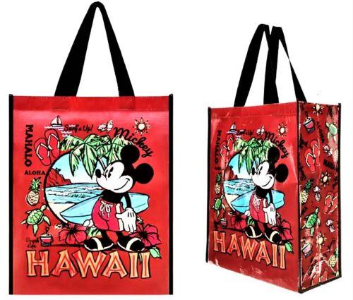 x3 Disney Store Hawaii Mahalo Tote Reusable Bag Washable Mickey Mouse Aulani New