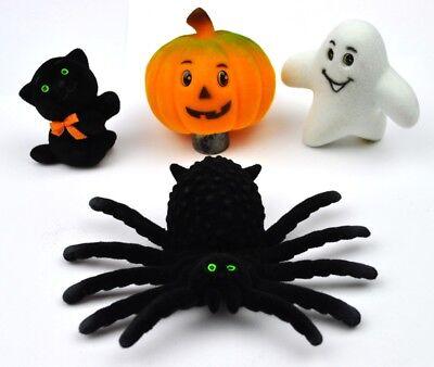 Vintage USA Halloween Deko Figuren Spinne schwarze Katze Gespenst - Halloween Figuren