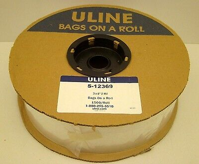 Uline S-12369 3 X 8 Polybag 2 Mil 1500 Bags On A Roll Autobag Plastic New