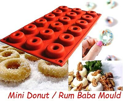 Mini Donut Rum Baba Dessert Silicone Mould Mold Ice Chocolate Cake Doughnut