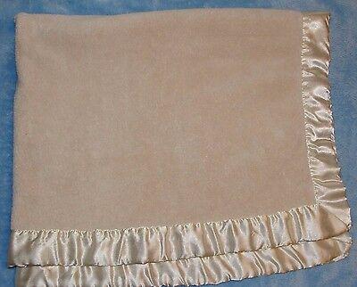 Katie Little Luxury Blanket - Katie Little Cream Ivory Baby Blanket Thick Luxury Plush Satin Trim Kidsline