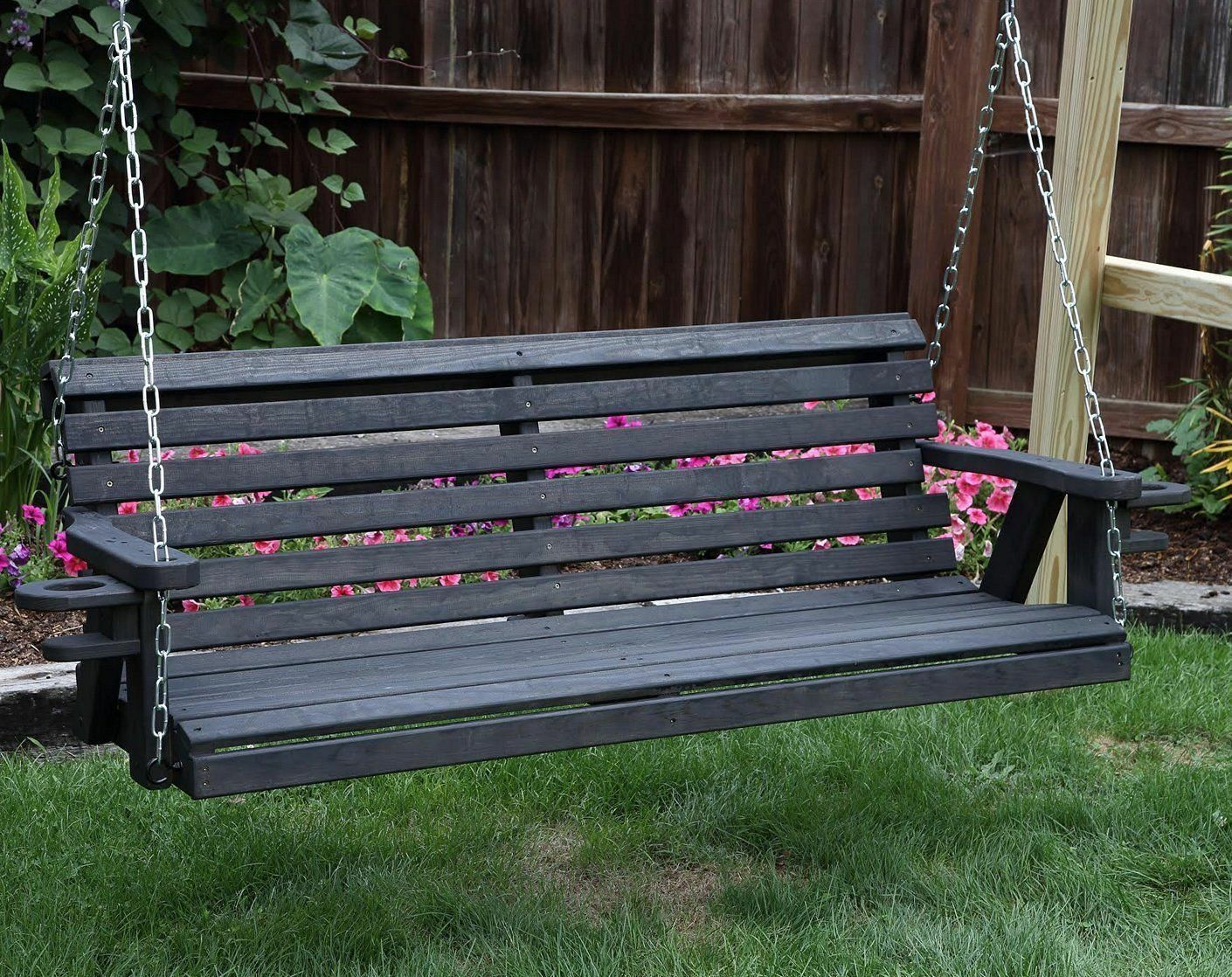 QUICK SHIP-Amish Heavy Duty 800 Lb Roll Back 5ft Porch Swing