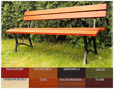 Gartenbank Sitzbank Gartenmöbel Holzbank Parkbank TEAK/NUSS 160 cm Hersteller