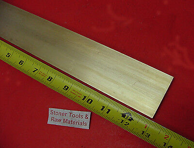 14 X 2 C360 Brass Flat Bar 13 Long Solid Plate Mill Stock H02 .25x 2.00