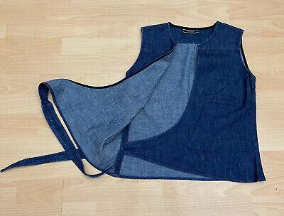 Joseph Wrap Style Denim Waistcoat Top Size M 100% Cotton Gilet  Used