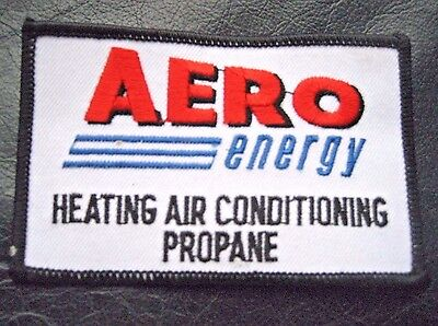 """AERO ENERGY EMBROIDERED SEW ON PATCH HEATING AIR CONDITIONING PROPANE 4"""" x 2 1/2"""